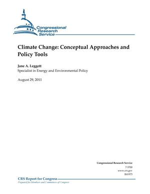 Primary view of object titled 'Climate Change: Conceptual Approaches and Policy Tools'.