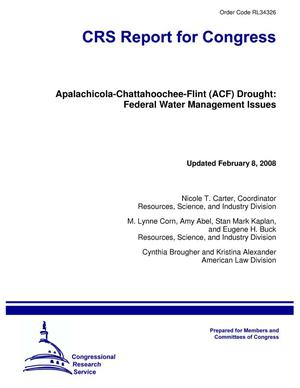 Primary view of object titled 'Apalachicola-Chattahoochee-Flint (ACF) Drought: Federal Water Management Issues'.