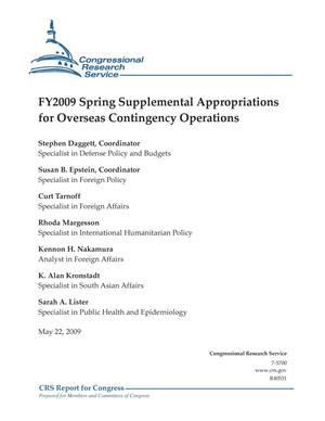 Primary view of object titled 'FY2009 Spring Supplemental Appropriations for Overseas Contingency Operations'.