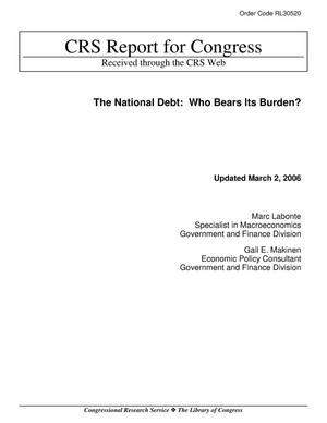 Primary view of object titled 'The National Debt: Who Bears Its Burden?'.