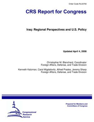 Primary view of object titled 'Iraq: Regional Perspectives and U.S. Policy'.