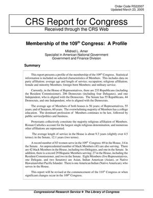 Primary view of object titled 'Membership of the 109th Congress: A Profile'.