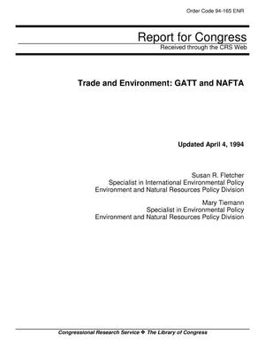 Primary view of object titled 'Trade and Environment: GATT and NAFTA'.