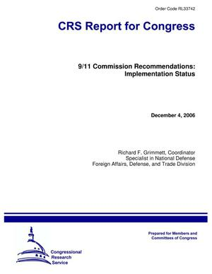Primary view of object titled '9/11 Commission Recommendations: Implementation Status'.