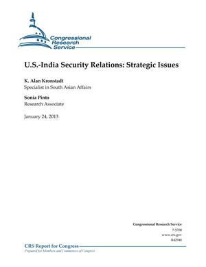 Primary view of object titled 'U.S.-India Security Relations: Strategic Issues'.