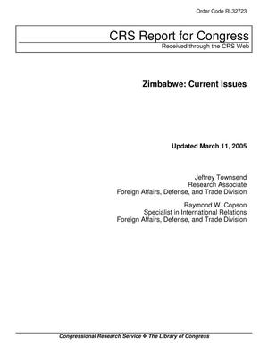 Primary view of object titled 'Zimbabwe: Current Issues'.