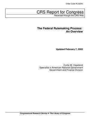 Primary view of object titled 'The Federal Rulemaking Process: An Overview'.