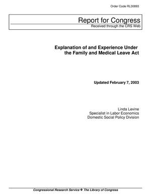 Primary view of object titled 'Explanation of and Experience Under the Family and Medical Leave Act'.