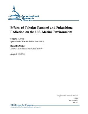 Primary view of object titled 'Effects of Tohoku Tsunami and Fukushima Radiation on the U.S. Marine Environment'.