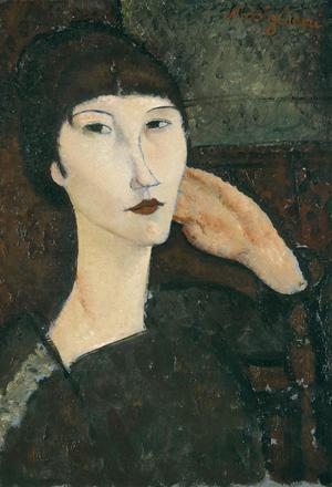 Primary view of object titled 'Adrienne (Woman with Bangs)'.