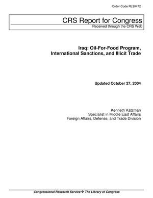 Primary view of object titled 'Iraq: Oil-For-Food Program, International Sanctions, and Illicit Trade'.