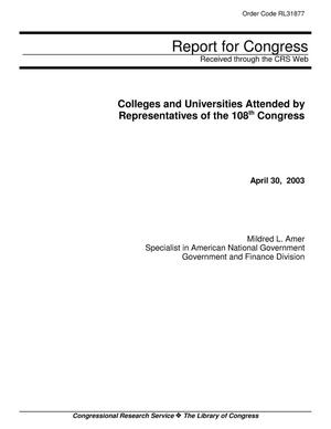 Primary view of object titled 'Colleges and Universities Attended by Representatives of the 108th Congress'.