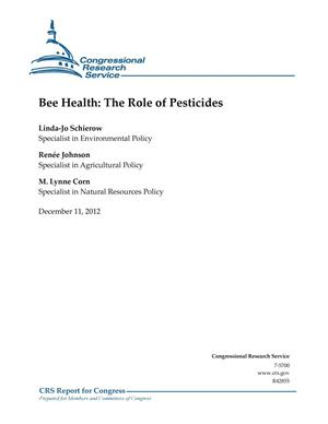 Primary view of object titled 'Bee Health: The Role of Pesticides'.