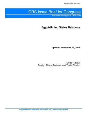 Primary view of object titled 'Egypt-United States Relations'.