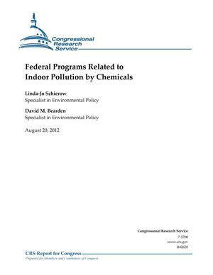 Primary view of object titled 'Federal Programs Related to Indoor Pollution by Chemicals'.