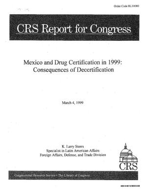 Primary view of object titled 'Mexico and Certification in 1999 : Consequences Decertificatio'.