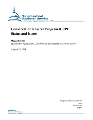 Primary view of object titled 'Conservation Reserve Program (CRP): Status and Issues'.