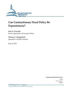 Primary view of object titled 'Can Contractionary Fiscal Policy Be Expansionary?'.