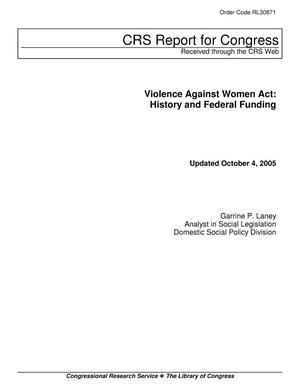 Primary view of object titled 'ILW COM law publisher http://www.ilw.com  Violence Against Women Act: History and Federal Funding'.