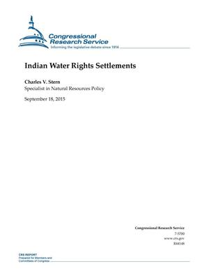 Primary view of object titled 'Indian Water Rights Settlements'.