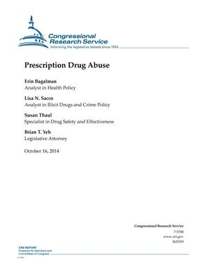 Primary view of object titled 'Prescription Drug Abuse'.