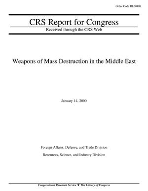 Primary view of object titled 'Weapons of Mass Destruction in the Middle East'.