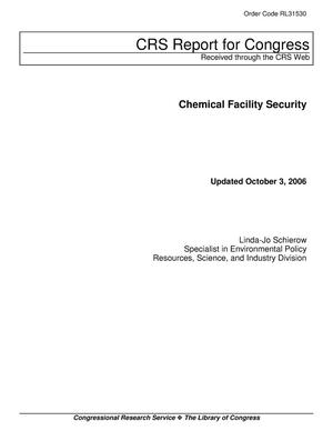 Primary view of object titled 'Chemical Facility Security'.