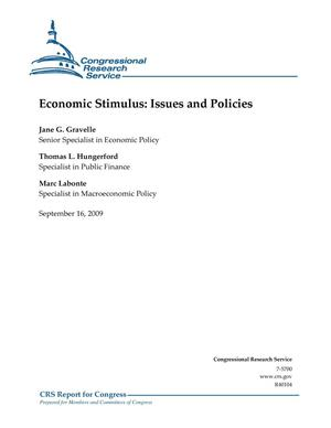 Primary view of object titled 'Economic Stimulus: Issues and Policies'.