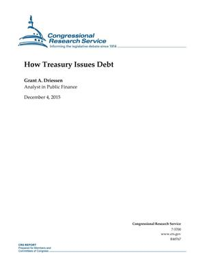 Primary view of object titled 'How Treasury Issues Debt'.