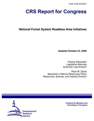 Primary view of object titled 'National Forest System Roadless Area Initiatives'.
