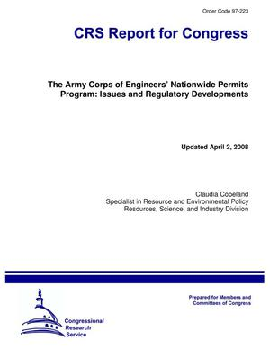 Primary view of object titled 'The Army Corps of Engineers' Nationwide Permits Program: Issues and Regulatory Developments'.