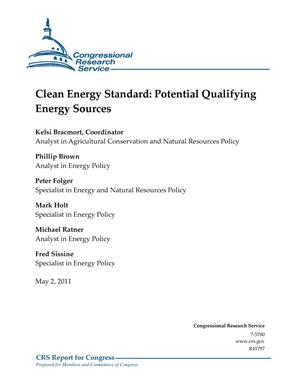 Primary view of object titled 'Clean Energy Standard: Potential Qualifying Energy Sources'.
