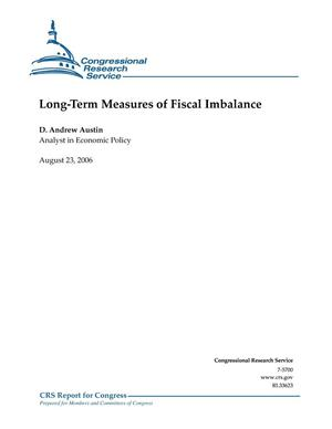 Primary view of object titled 'Long-Term Measures of Fiscal Imbalance'.
