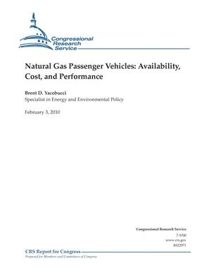 Primary view of object titled 'Natural Gas Passenger Vehicles: Availability, Cost, and Performance'.