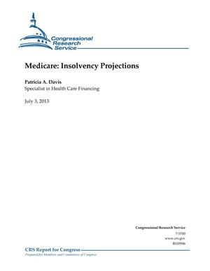 Primary view of object titled 'Medicare: Insolvency Projections'.