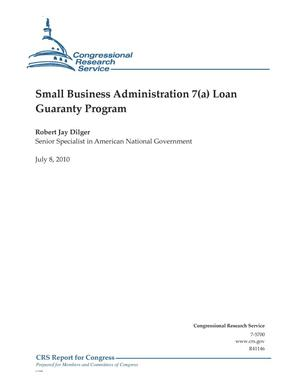 Primary view of object titled 'Small Business Administration 7(a) Loan Guaranty Program'.