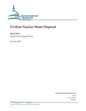 Primary view of object titled 'Civilian Nuclear Waste Disposal'.