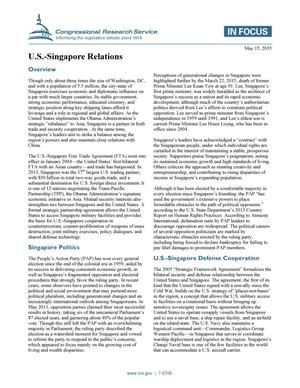Primary view of object titled 'U.S.-Singapore Relations'.