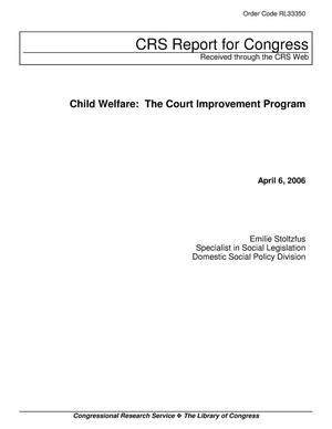 Primary view of object titled 'Child Welfare: The Court Improvement Program'.