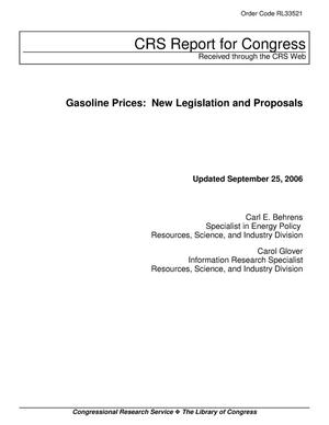 Primary view of object titled 'Gasoline Prices: New Legislation and Proposals'.