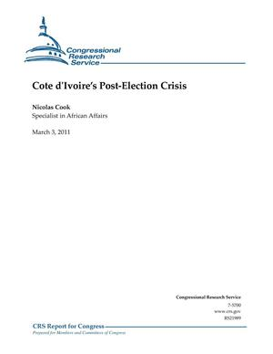 Primary view of object titled 'Cote d'Ivoire's Post-Election Crisis'.