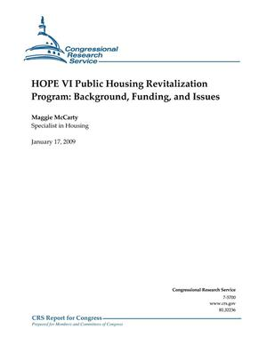 Primary view of object titled 'HOPE VI Public Housing Revitalization Program: Background, Funding, and Issues'.