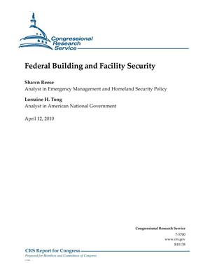 Primary view of object titled 'Federal Building and Facility Security'.