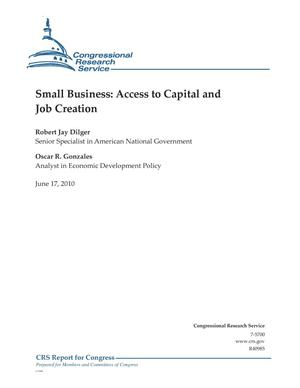 Primary view of object titled 'Small Business: Access to Capital and Job Creation'.