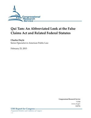 Primary view of object titled 'Qui Tam: An Abbreviated Look at the False Claims Act and Related Federal Statutes'.