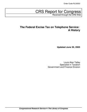 Primary view of object titled 'The Federal Excise Tax on Telephone Service: A History'.