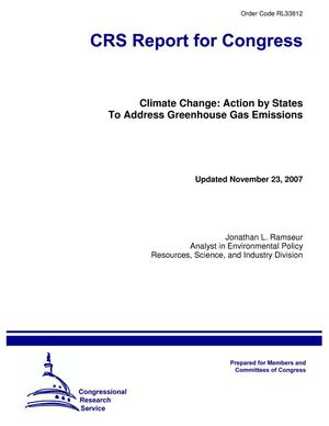 Primary view of object titled 'Climate Change: Action by States To Address Greenhouse Gas Emissions'.
