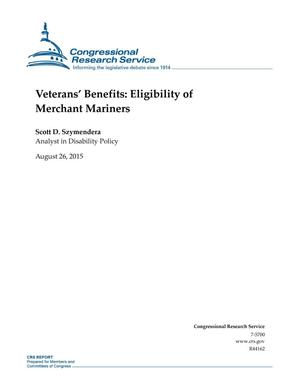 Primary view of object titled 'Veterans' Benefits: Eligibility of Merchant Mariners'.