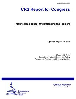 Primary view of object titled 'Marine Dead Zones: Understanding the Problem'.