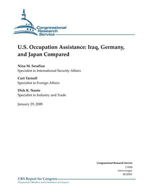 Primary view of object titled 'U.S. Occupation Assistance: Iraq, Germany and Japan Compared'.